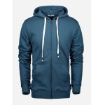 ZANSTYLE Zip Blue Gray Hoodie for Men photo