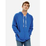 ZANSTYLE Blue Hoodie for Men for sale