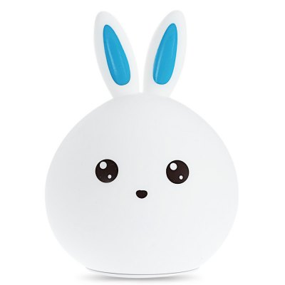 BRELONG Lovely Rabbit Colorful Silicone LED Night Light