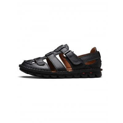 Business-casual Men Leather SandalsMens Sandals<br>Business-casual Men Leather Sandals<br><br>Contents: 1 x Pair of Shoes<br>Materials: Leather, Rubber<br>Occasion: Casual, Daily<br>Package Size ( L x W x H ): 33.00 x 22.00 x 11.00 cm / 12.99 x 8.66 x 4.33 inches<br>Package Weights: 0.870kg<br>Pattern Type: Solid<br>Seasons: Summer<br>Style: Leisure, Comfortable<br>Type: Sandals