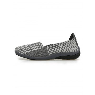 Lazy Slip-on Woven Women Shoes