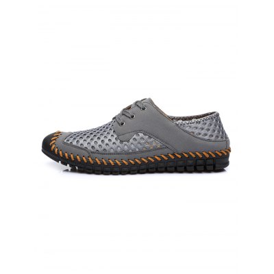 Summer Mesh Casual ShoesCasual Shoes<br>Summer Mesh Casual Shoes<br><br>Contents: 1 x Pair of Shoes<br>Materials: Mesh, Rubber, Suede<br>Occasion: Casual, Daily<br>Package Size ( L x W x H ): 33.00 x 22.00 x 11.00 cm / 12.99 x 8.66 x 4.33 inches<br>Package Weights: 0.670kg<br>Seasons: Summer<br>Style: Leisure, Comfortable<br>Type: Casual Shoes