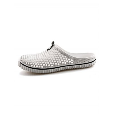 Outdoor Hollow Out Breathable Men SlippersMens Slippers<br>Outdoor Hollow Out Breathable Men Slippers<br><br>Contents: 1 x Pair of Slippers<br>Materials: EVA, TPU<br>Occasion: Casual<br>Package Size ( L x W x H ): 31.00 x 18.50 x 11.00 cm / 12.2 x 7.28 x 4.33 inches<br>Package Weights: 0.420kg<br>Seasons: Autumn,Spring,Summer<br>Style: Leisure, Fashion, Comfortable<br>Type: Casual Shoes