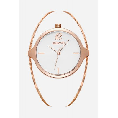 WeiQin W4836 Fashion Quartz Watch for WomenWomens Watches<br>WeiQin W4836 Fashion Quartz Watch for Women<br><br>Band material: Steel<br>Brand: Weiqin<br>Case material: Alloy<br>Clasp type: Sheet folding clasp<br>Display type: Analog<br>Movement type: Quartz watch<br>Package Contents: 1 x WeiQin W4836 Fashion Women Quartz Watch<br>Package size (L x W x H): 9.00 x 8.00 x 5.00 cm / 3.54 x 3.15 x 1.97 inches<br>Package weight: 0.0500 kg<br>Product weight: 0.0310 kg<br>Shape of the dial: Round<br>Watch color: Silver and White, Rose Gold and White, Gold and White, Gold, Rose Gold<br>Watch style: Jewellery<br>Watches categories: Female table<br>Water resistance : Life water resistant
