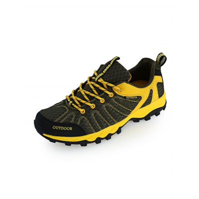 Outdoor Hiking Couple SneakersHiking Shoes<br>Outdoor Hiking Couple Sneakers<br><br>Available Size: 35 - 44<br>Features: Anti-slip, Breathable<br>Gender: Unisex<br>Highlights: Breathable<br>Package Contents: 1 x Pair of Sneakers<br>Package size: 33.00 x 22.00 x 12.00 cm / 12.99 x 8.66 x 4.72 inches<br>Package weight: 0.9700 kg<br>Product weight: 0.7800 kg<br>Season: Winter, Summer, Spring, Autumn<br>Sole Material: Rubber<br>Upper Height: Low