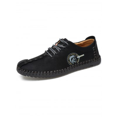 Stitches Microfiber Leather Casual Shoes