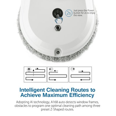 Alfawise S60 Window Cleaning Robot CleanerRobot Vacuum<br>Alfawise S60 Window Cleaning Robot Cleaner<br><br>Accessories Types: Mopping Pad,Remote Controller<br>Battery Capacity: 650mAh, 2.405Wh<br>Battery Type: Polymer Lithium Cell ( Model: 483048 )<br>Battery Voltage: 3.7V<br>Brand: Alfawise<br>Cleaner Types: Vacuum Cleaner<br>Model: S60<br>Package Contents: 1 x Cleaner, 1 x Adapter, 1 x 4m Extension Cord, 1 x Remote Controller, 2 x Battery, 4 x Cleaning Wheel, 1 x Safety Rope, 14 x Cleaning Pad, 1 x English User Manual<br>Package size (L x W x H): 30.00 x 23.00 x 13.50 cm / 11.81 x 9.06 x 5.31 inches<br>Package weight: 2.3500 kg<br>Product size (L x W x H): 29.50 x 15.00 x 12.50 cm / 11.61 x 5.91 x 4.92 inches<br>Product weight: 0.9500 kg