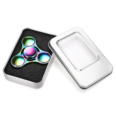 Tri-bar UFO Rainbow Fidget Spinner Stress Relieve ToyFidget Spinners<br>Tri-bar UFO Rainbow Fidget Spinner Stress Relieve Toy<br><br>Color: Colorful<br>Outside Bearing Material: Stainless Steel and Ceramic<br>Package Contents: 1 x Hand Spinner, 1 x Hand Spinner Box<br>Package size (L x W x H): 10.00 x 7.00 x 3.00 cm / 3.94 x 2.76 x 1.18 inches<br>Package weight: 0.1300 kg<br>Product size (L x W x H): 8.00 x 8.00 x 1.20 cm / 3.15 x 3.15 x 0.47 inches<br>Product weight: 0.0800 kg<br>Type: Rainbow, Triple Blade