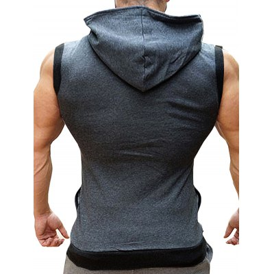 TAONIUCHAOPIN Hooded Sleeveless Sports VestWaistcoats<br>TAONIUCHAOPIN Hooded Sleeveless Sports Vest<br><br>Brand: TAONIUCHAOPIN<br>Material: Cotton<br>Package Contents: 1 x Vest<br>Package size: 40.00 x 30.00 x 2.00 cm / 15.75 x 11.81 x 0.79 inches<br>Package weight: 0.5200 kg<br>Product weight: 0.4500 kg
