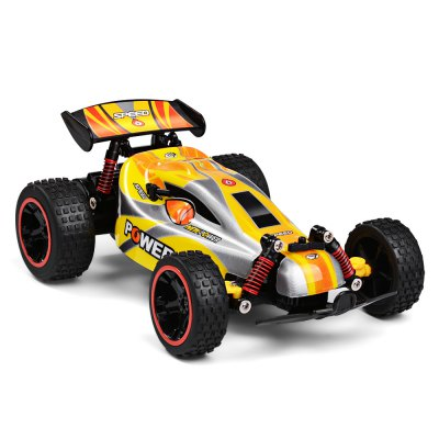 RUI CHUANG QY1801A 1:18 RWD RC Car - RTRRC Cars<br>RUI CHUANG QY1801A 1:18 RWD RC Car - RTR<br><br>Brand: RUI CHUANG<br>Car Power: 4 x 1.5V AA battery (not included)<br>Channel: 4-Channels<br>Detailed Control Distance: 50~60m<br>Drive Type: RWD ( rear-wheel drive )<br>Features: Radio Control<br>Material: ABS, Electronic Components, PVC, TPR<br>Motor Type: Brushed Motor<br>Package Contents: 1 x RC Car, 1 x Transmitter, 1 x English Manual<br>Package size (L x W x H): 29.50 x 18.50 x 16.00 cm / 11.61 x 7.28 x 6.3 inches<br>Package weight: 0.6500 kg<br>Product size (L x W x H): 22.00 x 14.00 x 9.00 cm / 8.66 x 5.51 x 3.54 inches<br>Product weight: 0.4750 kg<br>Proportion: 1:18<br>Racing Time: 10-12mins<br>Remote Control: 2.4GHz Wireless Remote Control<br>Speed: 18km/h ( maximum )<br>Transmitter Power: 2 x 1.5V AA battery (not included)<br>Type: High-speed Car