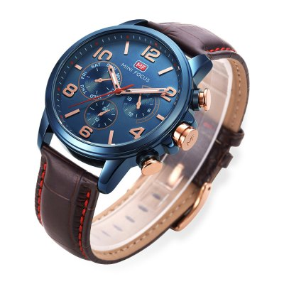 MINI FOCUS MF0001G Men Quartz WatchMens Watches<br>MINI FOCUS MF0001G Men Quartz Watch<br><br>Band material: Leather<br>Band size: 23 x 2.2cm / 9.06 x 0.87 inches<br>Brand: MINI FOCUS<br>Case material: Alloy<br>Clasp type: Pin buckle<br>Dial size: 4.5 x 4.5 x 1cm / 1.77 x 1.77 x 0.39 inches<br>Display type: Analog<br>Movement type: Quartz watch<br>Package Contents: 1 x Watch<br>Package size (L x W x H): 24.00 x 5.50 x 2.00 cm / 9.45 x 2.17 x 0.79 inches<br>Package weight: 0.0940 kg<br>Product size (L x W x H): 23.00 x 4.50 x 1.00 cm / 9.06 x 1.77 x 0.39 inches<br>Product weight: 0.0630 kg<br>Shape of the dial: Round<br>Special features: Luminous<br>Watch mirror: Mineral glass<br>Watch style: Fashion, Business<br>Watches categories: Male table<br>Water resistance : 30 meters<br>Wearable length: 18 - 21cm / 7.09 - 8.27 inches