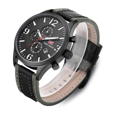 MINI FOCUS MF0003G Men Quartz WatchMens Watches<br>MINI FOCUS MF0003G Men Quartz Watch<br><br>Band material: Leather<br>Band size: 24.5 x 2.4cm / 9.65 x 0.94 inches<br>Brand: MINI FOCUS<br>Case material: Alloy<br>Clasp type: Pin buckle<br>Dial size: 4.7 x 4.7 x 1cm / 1.85 x 1.85 x 0.39 inches<br>Display type: Analog<br>Movement type: Quartz watch<br>Package Contents: 1 x Watch<br>Package size (L x W x H): 25.50 x 5.70 x 2.00 cm / 10.04 x 2.24 x 0.79 inches<br>Package weight: 0.1060 kg<br>Product size (L x W x H): 24.50 x 4.70 x 1.00 cm / 9.65 x 1.85 x 0.39 inches<br>Product weight: 0.0750 kg<br>Shape of the dial: Round<br>Special features: Date, Stopwatch<br>Watch mirror: Mineral glass<br>Watch style: Business, Fashion<br>Watches categories: Male table<br>Water resistance : 30 meters<br>Wearable length: 18 - 22cm / 7.09 - 8.66 inches