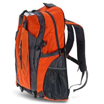 Unisex Lightweight Nylon 40L Travel Backpack with Mesh Pad
