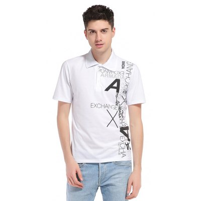WHATLEES Letter Print Cotton T Shirts
