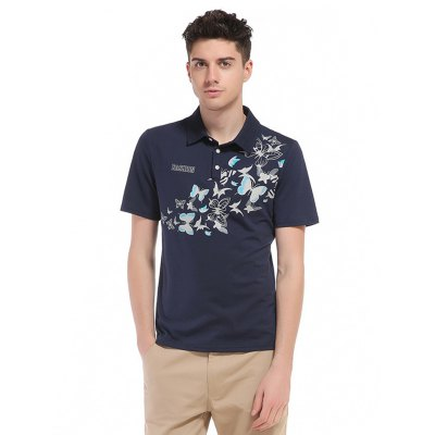 WHATLEES Butterfly Print Cotton T Shirts
