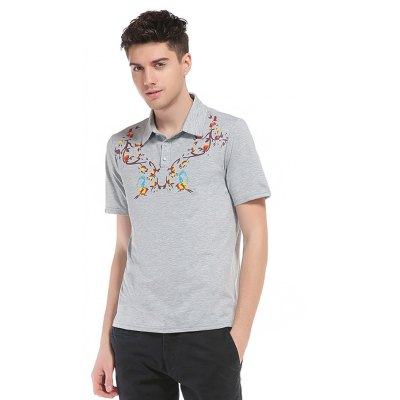 WHATLEES Casual T Shirt with Printing Pattern for Men