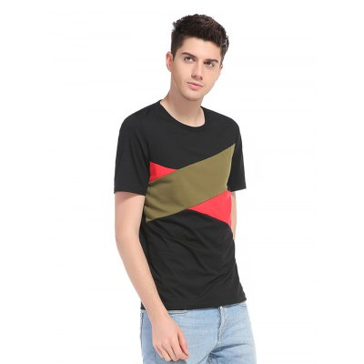 WHATLEES Men T ShirtMens Short Sleeve Tees<br>WHATLEES Men T Shirt<br><br>Brand: WHATLEES<br>Color: Black,Yellow<br>Material: Cotton<br>Neckline: Round Neck<br>Package Content: 1 x T Shirt<br>Package size: 40.00 x 30.00 x 2.00 cm / 15.75 x 11.81 x 0.79 inches<br>Package weight: 0.2800 kg<br>Pattern Type: Patchwork<br>Product weight: 0.2500 kg<br>Season: Autumn, Summer, Spring, Winter<br>Size: L,M,S,XL,XXL<br>Sleeve Length: Short Sleeves<br>Style: Casual