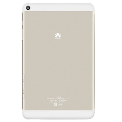 Huawei Honor T1 - 821W Tablet PCTablet PCs<br>Huawei Honor T1 - 821W Tablet PC<br><br>3.5mm Headphone Jack: Yes<br>AC adapter: 100-240V 5V 2A<br>Additional Features: GPS, Gravity Sensing System, Calendar, Calculator, Light Sensing System, MP3, MP4, Proximity Sensing System, OTA, Browser, Bluetooth, Wi-Fi, Alarm<br>Back camera: 5.0MP<br>Battery Capacity(mAh): 3.7V / 4800mAh, Li-ion polymer battery<br>Bluetooth: 4.0<br>Brand: HUAWEI<br>Camera type: Dual cameras (one front one back)<br>Core: 1.2GHz, Quad Core<br>CPU: MSM8916<br>CPU Brand: Qualcomm<br>English Manual : 1<br>External Memory: TF card up to 32GB (not included)<br>Front camera: 2.0MP<br>G-sensor: Supported<br>GPS: Yes<br>GPU: Adreno 306<br>IPS: Yes<br>Languages support : Supports multi-language<br>MIC: Supported<br>Micro USB Slot: Yes<br>MS Office format: Excel, Word, PPT<br>Music format: WMA, MP3, APE, AAC, OGG<br>OS: Android 4.4<br>Package size: 23.70 x 15.30 x 5.10 cm / 9.33 x 6.02 x 2.01 inches<br>Package weight: 0.6500 kg<br>Picture format: BMP, GIF, JPEG, PNG, JPG<br>Power Adapter: 1<br>Product size: 21.06 x 12.77 x 0.79 cm / 8.29 x 5.03 x 0.31 inches<br>Product weight: 0.3500 kg<br>RAM: 2GB<br>ROM: 16GB<br>Screen resolution: 1280 x 800 (WXGA)<br>Screen size: 8 inch<br>Screen type: Capacitive (5-Point)<br>Skype: Supported<br>Speaker: Built-in Dual Channel Speaker<br>Support Network: WiFi<br>Tablet PC: 1<br>TF card slot: Yes<br>Type: Tablet PC<br>USB Cable: 1<br>Video format: 3GP, ASF, AVI, MKV, WMV, MP4<br>WIFI: 802.11 a/b/g/n/ac wireless internet<br>Youtube: Supported