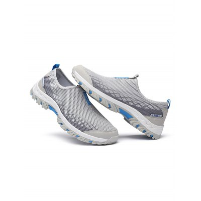 Breathable Mesh Upper Outdoor Sneakers for MaleHiking Shoes<br>Breathable Mesh Upper Outdoor Sneakers for Male<br><br>Color: Army green,Black Gray,Blue Gray,Royal Blue<br>Contents: 1 ? Pair of Hiking Shoes<br>Materials: Mesh, Rubber<br>Occasion: Daily, Casual<br>Package Size ( L x W x H ): 35.00 x 23.00 x 12.00 cm / 13.78 x 9.06 x 4.72 inches<br>Package Weights: 0.78KG<br>Product Size  ( L x W x H ): 33.00 x 22.00 x 11.00 cm / 12.99 x 8.66 x 4.33 inches<br>Product Weights: 0.6KG<br>Seasons: Summer<br>Size: 39,40,41,42,43,44<br>Style: Leisure<br>Type: Hiking Shoes