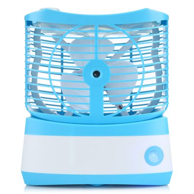Desktop Mini Misting FanOther Home Improvement<br>Desktop Mini Misting Fan<br><br>Battery Capacity: 2000mAh<br>Battery Type: Li-ion battery<br>Color: Blue<br>Connection: USB<br>Features: Portable, Space-saving<br>Material: ABS<br>Package Contents: 1 x Fan, 1 x Chinese User Manual, 1 x USB Cable<br>Package size (L x W x H): 18.10 x 12.70 x 21.30 cm / 7.13 x 5 x 8.39 inches<br>Package weight: 0.6170 kg<br>Product size (L x W x H): 16.10 x 10.60 x 18.60 cm / 6.34 x 4.17 x 7.32 inches<br>Product weight: 0.4910 kg<br>Type: Mini Fans, Cooling Fans<br>Voltage: DC 5V