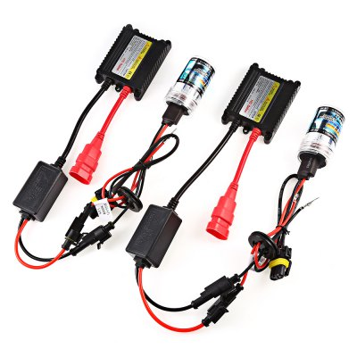 H11 55W HID Xenon LED Headlight Conversion KitCar Lights<br>H11 55W HID Xenon LED Headlight Conversion Kit<br><br>Adaptable automobile mode: Universal<br>Apply lamp position : External Lights<br>Color temperatures: 8000K<br>Connector: H11<br>Lumens: 2300 - 2700LM<br>Package Contents: 2 x Xenon Lamp, 2 x Ballast, 18 x Screw, 18 x Nut, 1 x English User Manual<br>Package size (L x W x H): 22.00 x 18.00 x 7.00 cm / 8.66 x 7.09 x 2.76 inches<br>Package weight: 0.3400 kg<br>Product size (L x W x H): 11.00 x 7.00 x 3.50 cm / 4.33 x 2.76 x 1.38 inches<br>Product weight: 0.2600 kg<br>Type of lamp-house : Xenon