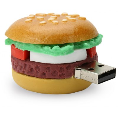 Caraele Hamburger Shape USB 2.0 Data Storage Device