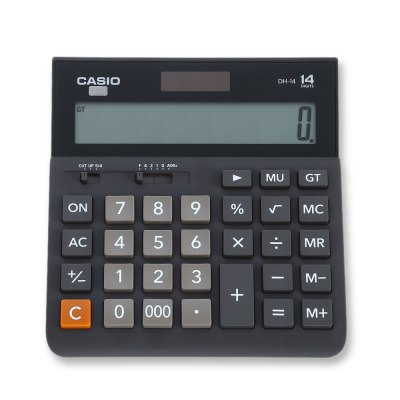 CASIO DH - 14 - BK 14 Digit LCD Display Electronic CalculatorSchool Supplies<br>CASIO DH - 14 - BK 14 Digit LCD Display Electronic Calculator<br><br>Brand: Casio<br>Features: 14 digit<br>Model: DH - 14 - BK<br>Package Contents: 1 x CASIO DH - 14 - BK Calculator<br>Package size (L x W x H): 20.50 x 17.20 x 3.20 cm / 8.07 x 6.77 x 1.26 inches<br>Package weight: 0.3050 kg<br>Product size (L x W x H): 16.00 x 15.00 x 1.50 cm / 6.3 x 5.91 x 0.59 inches<br>Product weight: 0.1710 kg