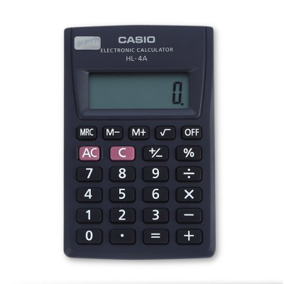 CASIO HL - 4A Mini Electronic Desktop Calculator