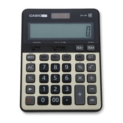 CASIO DS - 2B 12 Digit LCD Display Electronic Calculator