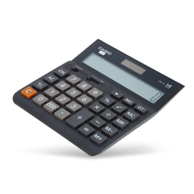 CASIO DH - 14 - BK 14 Digit LCD Display Electronic Calculator