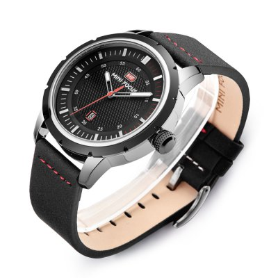 MINI FOCUS MF0014G Male Quartz WatchMens Watches<br>MINI FOCUS MF0014G Male Quartz Watch<br><br>Band material: Leather<br>Band size: 22 x 2.2cm / 8.66 x 0.87 inches<br>Brand: MINI FOCUS<br>Case material: Alloy<br>Clasp type: Pin buckle<br>Dial size: 3.8 x 3.8 x 1.2cm / 1.5 x 1.5 x 0.47 inches<br>Display type: Analog<br>Movement type: Quartz watch<br>Package Contents: 1 x Watch<br>Package size (L x W x H): 23.00 x 4.80 x 2.20 cm / 9.06 x 1.89 x 0.87 inches<br>Package weight: 0.1000 kg<br>Product size (L x W x H): 22.00 x 3.80 x 1.20 cm / 8.66 x 1.5 x 0.47 inches<br>Product weight: 0.0690 kg<br>Shape of the dial: Round<br>Special features: Date, Luminous<br>Watch mirror: Mineral glass<br>Watch style: Business, Fashion<br>Watches categories: Male table<br>Water resistance : 30 meters<br>Wearable length: 18 - 21cm / 7.09 - 8.27 inches