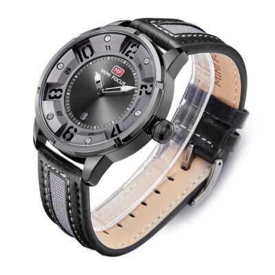 MINI FOCUS MF0012G Men Quartz WatchMens Watches<br>MINI FOCUS MF0012G Men Quartz Watch<br><br>Band material: Leather<br>Band size: 22 x 2.2cm / 8.66 x 0.87 inches<br>Brand: MINI FOCUS<br>Case material: Alloy<br>Clasp type: Pin buckle<br>Dial size: 4 x 4 x 1.2cm / 1.57 x 1.57 x 0.47 inches<br>Display type: Analog<br>Movement type: Quartz watch<br>Package Contents: 1 x Watch<br>Package size (L x W x H): 23.00 x 5.00 x 2.20 cm / 9.06 x 1.97 x 0.87 inches<br>Package weight: 0.0990 kg<br>Product size (L x W x H): 22.00 x 4.00 x 1.20 cm / 8.66 x 1.57 x 0.47 inches<br>Product weight: 0.0680 kg<br>Shape of the dial: Round<br>Special features: Date, Luminous<br>Watch mirror: Mineral glass<br>Watch style: Business, Fashion<br>Watches categories: Male table<br>Water resistance : 30 meters<br>Wearable length: 18 - 21cm / 7.09 - 8.27 inches