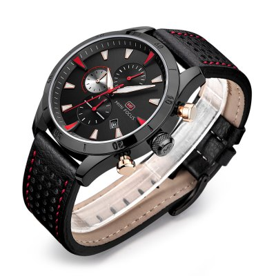 MINI FOCUS MF0011G Men Quartz WatchMens Watches<br>MINI FOCUS MF0011G Men Quartz Watch<br><br>Band material: Leather<br>Band size: 22 x 2.2cm / 8.66 x 0.87 inches<br>Brand: MINI FOCUS<br>Case material: Alloy<br>Clasp type: Pin buckle<br>Dial size: 4 x 4 x 1.2cm / 1.57 x 1.57 x 0.47 inches<br>Display type: Analog<br>Movement type: Quartz watch<br>Package Contents: 1 x Watch<br>Package size (L x W x H): 23.00 x 5.00 x 2.20 cm / 9.06 x 1.97 x 0.87 inches<br>Package weight: 0.1020 kg<br>Product size (L x W x H): 22.00 x 4.00 x 1.20 cm / 8.66 x 1.57 x 0.47 inches<br>Product weight: 0.0710 kg<br>Shape of the dial: Round<br>Special features: Date, Stopwatch, Day<br>Watch mirror: Mineral glass<br>Watch style: Business, Fashion<br>Watches categories: Male table<br>Water resistance : 30 meters<br>Wearable length: 18 - 21cm / 7.09 - 8.27 inches