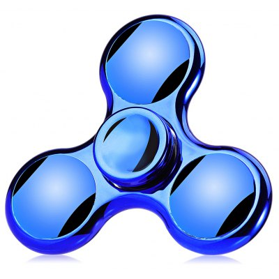 Tri-bar Electroplating Fidget Spinner Stress Reliever Toy