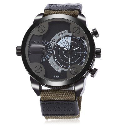 SHI WEI BAO 3131 Men Dual Quartz WatchMens Watches<br>SHI WEI BAO 3131 Men Dual Quartz Watch<br><br>Band material: Canvas<br>Band size: 25.60 x 2.50 cm / 10.08 x 0.98 inches<br>Brand: Shiweibao<br>Case material: Alloy<br>Clasp type: Pin buckle<br>Dial size: 5.06 x 5.06 x 1.46 cm / 1.99 x 1.99 x 0.57 inches<br>Display type: Analog<br>Movement type: Double-movtz<br>Package Contents: 1 x SHI WEI BAO Watch, 1 x Box<br>Package size (L x W x H): 11.50 x 9.00 x 8.00 cm / 4.53 x 3.54 x 3.15 inches<br>Package weight: 0.1900 kg<br>Product size (L x W x H): 25.60 x 5.06 x 1.46 cm / 10.08 x 1.99 x 0.57 inches<br>Product weight: 0.0900 kg<br>Shape of the dial: Round<br>Watch style: Casual<br>Watches categories: Male table<br>Wearable length: 17.00 - 23.00 cm / 6.69 - 9.05 inches