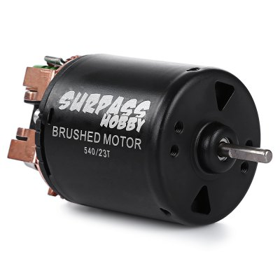 SURPASS HOBBY 540 High-torque Brushed MotorRC Car Parts<br>SURPASS HOBBY 540 High-torque Brushed Motor<br><br>Package Contents: 1 x Motor, 2 x Cable<br>Package size (L x W x H): 8.20 x 6.30 x 5.20 cm / 3.23 x 2.48 x 2.05 inches<br>Package weight: 0.2130 kg<br>Product size (L x W x H): 3.40 x 3.40 x 5.40 cm / 1.34 x 1.34 x 2.13 inches<br>Product weight: 0.1760 kg<br>Type: Motor