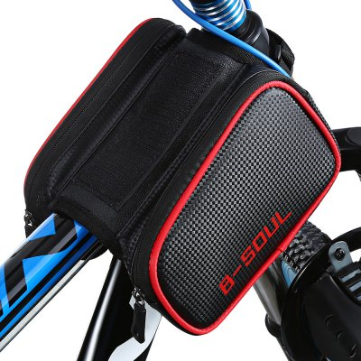 B - SOUL Bicycle Front Tube BagBike Bags<br>B - SOUL Bicycle Front Tube Bag<br><br>Brand: B-SOUL<br>Emplacement: Front Tube<br>For: Unisex<br>Material: Leather, Polyester, TPU<br>Package Contents: 1 x B - SOUL Bicycle Front Tube Bag, 1 x Mobile Phone Pouch<br>Package Dimension: 20.00 x 13.00 x 8.50 cm / 7.87 x 5.12 x 3.35 inches<br>Package weight: 0.3000 kg<br>Product Dimension: 18.00 x 11.00 x 16.50 cm / 7.09 x 4.33 x 6.5 inches<br>Product weight: 0.2600 kg