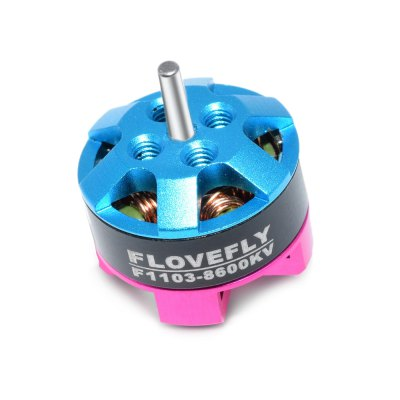 FLOVEFLY F1103 8600KV Micro Brushless MotorMotor<br>FLOVEFLY F1103 8600KV Micro Brushless Motor<br><br>Compatible Propeller Sizes: 1.5 / 1.6 / 1.9 / 2.0 inches<br>KV: 8600<br>Max. Continuous Power (W): 40W<br>Model: F1103<br>Motor Type: Brushless Motor<br>No. of Cells: 2S<br>Operating Voltage / Current: 7.4V / 4.5A<br>Package Contents: 1 x Motor, 1 x Set of Screws<br>Package size (L x W x H): 4.00 x 4.00 x 4.00 cm / 1.57 x 1.57 x 1.57 inches<br>Package weight: 0.0140 kg<br>Product size (L x W x H): 1.42 x 1.42 x 1.15 cm / 0.56 x 0.56 x 0.45 inches<br>Product weight: 0.0044 kg<br>Shaft Diameter: 1.5mm<br>Type: Motor