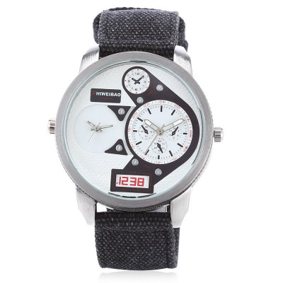 SHI WEI BAO A3135 Men Dual Quartz WatchMens Watches<br>SHI WEI BAO A3135 Men Dual Quartz Watch<br><br>Band material: Canvas<br>Band size: 26.60 x 2.50 cm / 10.47 x 0.98 inches<br>Brand: Shiweibao<br>Case material: Alloy<br>Clasp type: Pin buckle<br>Dial size: 4.60 x 4.60 x 1.13 cm / 1.81 x 1.81 x 0.44 inches<br>Display type: Analog<br>Movement type: Double-movtz<br>Package Contents: 1 x SHI WEI BAO Watch, 1 x Box<br>Package size (L x W x H): 11.50 x 9.00 x 8.00 cm / 4.53 x 3.54 x 3.15 inches<br>Package weight: 0.1720 kg<br>Product size (L x W x H): 26.60 x 4.60 x 1.13 cm / 10.47 x 1.81 x 0.44 inches<br>Product weight: 0.0720 kg<br>Shape of the dial: Round<br>Special features: Working sub-dial<br>Watch style: Casual<br>Watches categories: Male table<br>Wearable length: 16.00 - 21.00 cm / 6.29 - 8.26 inches