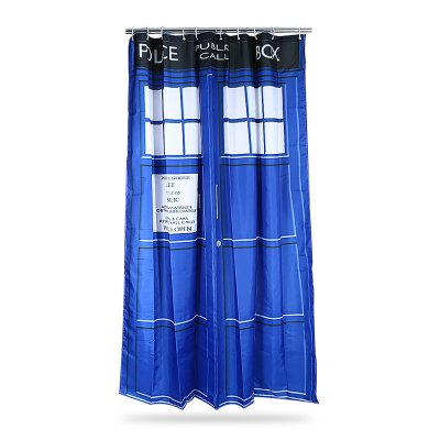 Police Box Pattern Waterproof Bath Shower CurtainOther Bathroom Accessories<br>Police Box Pattern Waterproof Bath Shower Curtain<br><br>Material: Dacron<br>Package Contents: 1 x Bath Curtain, 12 x Hook<br>Package size (L x W x H): 28.00 x 22.70 x 5.00 cm / 11.02 x 8.94 x 1.97 inches<br>Package weight: 0.3760 kg<br>Product size (L x W x H): 150.00 x 180.00 x 0.10 cm / 59.06 x 70.87 x 0.04 inches<br>Product weight: 0.2770 kg