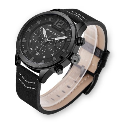 MINI FOCUS MF0006G Men Quartz WatchMens Watches<br>MINI FOCUS MF0006G Men Quartz Watch<br><br>Band material: Nylon + Leather<br>Band size: 22 x 2.2cm / 8.66 x 0.87 inches<br>Brand: MINI FOCUS<br>Case material: Alloy<br>Clasp type: Pin buckle<br>Dial size: 4 x 4 x 1.2cm / 1.57 x 1.57 x 0.47 inches<br>Display type: Analog<br>Movement type: Quartz watch<br>Package Contents: 1 x Watch<br>Package size (L x W x H): 23.00 x 5.00 x 2.20 cm / 9.06 x 1.97 x 0.87 inches<br>Package weight: 0.1060 kg<br>Product size (L x W x H): 22.00 x 4.00 x 1.20 cm / 8.66 x 1.57 x 0.47 inches<br>Product weight: 0.0750 kg<br>Shape of the dial: Round<br>Special features: Date, Decorative sub-dial<br>Watch mirror: Mineral glass<br>Watch style: Business, Fashion<br>Watches categories: Male table<br>Water resistance : 30 meters<br>Wearable length: 18 - 21cm / 7.09 - 8.27 inches