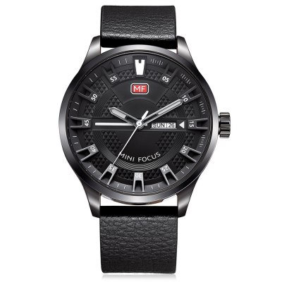 MINIFOCUS MF0028G Quartz Watch for MenMens Watches<br>MINIFOCUS MF0028G Quartz Watch for Men<br><br>Band material: Genuine Leather<br>Band size: 24.50 x 2.20 cm / 9.65 x 0.86 inches<br>Brand: MINI FOCUS<br>Case material: Alloy<br>Clasp type: Pin buckle<br>Dial size: 4.60 x 4.60 x 1.20 cm / 1.81 x 1.81 x 0.47 inches<br>Display type: Analog<br>Movement type: Quartz watch<br>Package Contents: 1 x MINIFOCUS Male Quartz Watch<br>Package size (L x W x H): 26.00 x 6.00 x 2.20 cm / 10.24 x 2.36 x 0.87 inches<br>Package weight: 0.0950 kg<br>Product size (L x W x H): 24.50 x 4.60 x 1.20 cm / 9.65 x 1.81 x 0.47 inches<br>Product weight: 0.0650 kg<br>Shape of the dial: Round<br>Watch style: Fashion<br>Watches categories: Male table<br>Water resistance : Life water resistant<br>Wearable length: 16.00 - 20.00 cm / 6.29 - 7.87 inches