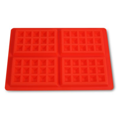 4-cavity Waffle Chocolate Silicone MoldOther Cooking Tools<br>4-cavity Waffle Chocolate Silicone Mold<br><br> Product weight: 0.1290 kg<br>Available Color: Red<br>Material: Silicone<br>Package Contents: 1 x Chocolate Mold<br>Package size (L x W x H): 32.00 x 19.70 x 2.50 cm / 12.6 x 7.76 x 0.98 inches<br>Package weight: 0.1610 kg<br>Product size (L x W x H): 28.00 x 18.20 x 1.50 cm / 11.02 x 7.17 x 0.59 inches<br>Type: Bakeware