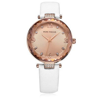 MINIFOCUS MF0038L Women Quartz WatchWomens Watches<br>MINIFOCUS MF0038L Women Quartz Watch<br><br>Band material: Genuine Leather<br>Band size: 20.00 x 1.60 cm / 7.87 x 1.50 x 0.62 inches<br>Case material: Alloy<br>Clasp type: Pin buckle<br>Dial size: 3.50 x 3.50 x 0.80 cm / 1.38 x 1.38 x 0.31 inches<br>Display type: Analog<br>Movement type: Quartz watch<br>Package Contents: 1 x MINIFOCUS Women Quartz Watch<br>Package size (L x W x H): 22.00 x 5.00 x 1.80 cm / 8.66 x 1.97 x 0.71 inches<br>Package weight: 0.1110 kg<br>Product size (L x W x H): 20.00 x 3.50 x 0.80 cm / 7.87 x 1.38 x 0.31 inches<br>Product weight: 0.0810 kg<br>Shape of the dial: Round<br>Watch mirror: Mineral glass<br>Watch style: Fashion<br>Watches categories: Female table<br>Water resistance : Life water resistant<br>Wearable length: 16.00 - 18.00 cm / 6.29 - 7.08 inches