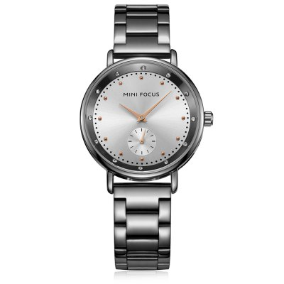 MINIFOCUS MF0037L Quartz Watch for WomenWomens Watches<br>MINIFOCUS MF0037L Quartz Watch for Women<br><br>Band material: Steel<br>Band size: 20.50 x 1.60 cm / 8.07 x 0.62 inches<br>Brand: MINIFOCUS<br>Case material: Alloy<br>Clasp type: Butterfly clasp<br>Dial size: 3.50 x 3.50 x 0.70 cm / 1.38 x 1.38 x 0.28 inches<br>Display type: Analog<br>Movement type: Quartz watch<br>Package Contents: 1 x MINIFOCUS Women Quartz Watch<br>Package size (L x W x H): 22.00 x 5.00 x 1.80 cm / 8.66 x 1.97 x 0.71 inches<br>Package weight: 0.1120 kg<br>Product size (L x W x H): 20.50 x 3.50 x 0.70 cm / 8.07 x 1.38 x 0.28 inches<br>Product weight: 0.0820 kg<br>Shape of the dial: Round<br>Watch mirror: Mineral glass<br>Watch style: Fashion<br>Watches categories: Female table<br>Water resistance : Life water resistant