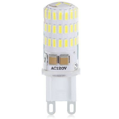 10PCS 4W G9 46SMD 4014 JTFL201 - ly LED Corn LightsCorn Bulbs<br>10PCS 4W G9 46SMD 4014 JTFL201 - ly LED Corn Lights<br><br>Available Light Color: White<br>CCT/Wavelength: 3000-6000K<br>Certifications: CE,FCC,RoHs<br>Features: Energy Saving<br>Function: Home Lighting<br>Holder: G9<br>Luminous Flux: 380 - 420<br>Output Power: 3.8W<br>Package Contents: 10 x LED Corn Light<br>Package size (L x W x H): 12.50 x 10.50 x 2.10 cm / 4.92 x 4.13 x 0.83 inches<br>Package weight: 0.1800 kg<br>Product size (L x W x H): 6.10 x 2.10 x 2.10 cm / 2.4 x 0.83 x 0.83 inches<br>Product weight: 0.1500 kg<br>Sheathing Material: Silicone<br>Type: Corn Bulbs<br>Voltage (V): AC 120V,AC 220V<br>Wattage Range: ?5W