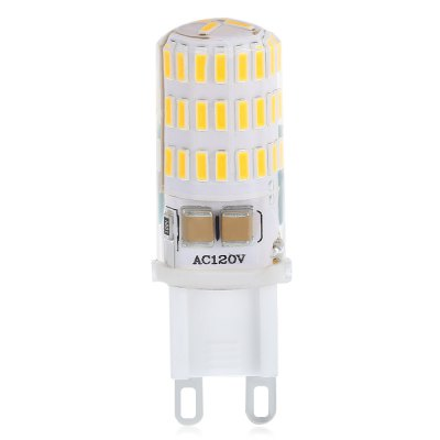 10PCS 4W G9 46SMD 4014 JTFL201 - ly LED Corn LightsCorn Bulbs<br>10PCS 4W G9 46SMD 4014 JTFL201 - ly LED Corn Lights<br><br>Available Light Color: Warm White<br>CCT/Wavelength: 3000-6000K<br>Certifications: CE,FCC,RoHs<br>Features: Energy Saving<br>Function: Home Lighting<br>Holder: G9<br>Luminous Flux: 380 - 420<br>Output Power: 3.8W<br>Package Contents: 10 x LED Corn Light<br>Package size (L x W x H): 12.50 x 10.50 x 2.10 cm / 4.92 x 4.13 x 0.83 inches<br>Package weight: 0.1800 kg<br>Product size (L x W x H): 6.10 x 2.10 x 2.10 cm / 2.4 x 0.83 x 0.83 inches<br>Product weight: 0.1500 kg<br>Sheathing Material: Silicone<br>Type: Corn Bulbs<br>Voltage (V): AC 120V,AC 220V<br>Wattage Range: ?5W