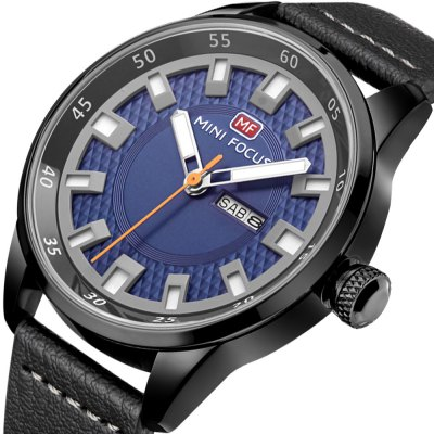 MINIFOCUS MF0027G Quartz Watch for MenMens Watches<br>MINIFOCUS MF0027G Quartz Watch for Men<br><br>Band material: Genuine Leather<br>Band size: 24.50 x 2.20 cm / 9.65 x 0.86 inches<br>Brand: MINI FOCUS<br>Case material: Alloy<br>Clasp type: Pin buckle<br>Dial size: 4.60 x 4.60 x 1.10 cm / 1.81 x 1.81 x 0.43 inches<br>Display type: Analog<br>Movement type: Quartz watch<br>Package Contents: 1 x MINIFOCUS Male Quartz Watch<br>Package size (L x W x H): 26.00 x 6.00 x 3.00 cm / 10.24 x 2.36 x 1.18 inches<br>Package weight: 0.0980 kg<br>Product size (L x W x H): 24.50 x 4.60 x 1.10 cm / 9.65 x 1.81 x 0.43 inches<br>Product weight: 0.0680 kg<br>Shape of the dial: Round<br>Watch style: Fashion<br>Watches categories: Male table<br>Water resistance : Life water resistant<br>Wearable length: 16.00 - 20.00 cm / 6.29 - 7.87 inches