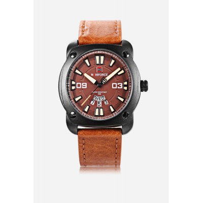 NAVIFORCE NF9096M Men Quartz WatchMens Watches<br>NAVIFORCE NF9096M Men Quartz Watch<br><br>Band material: Leather<br>Band size: 24.2 x 2cm / 9.53 x 0.79 inches<br>Brand: Naviforce<br>Case material: Alloy<br>Clasp type: Pin buckle<br>Dial size: 4.2 x 4.2 x 1.2cm / 1.65 x 1.65 x 0.47 inches<br>Display type: Analog<br>Movement type: Quartz watch<br>Package Contents: 1 x Watch<br>Package size (L x W x H): 25.20 x 5.20 x 2.20 cm / 9.92 x 2.05 x 0.87 inches<br>Package weight: 0.1030 kg<br>Product size (L x W x H): 24.20 x 4.20 x 1.20 cm / 9.53 x 1.65 x 0.47 inches<br>Product weight: 0.0720 kg<br>Shape of the dial: Round<br>Special features: Day, Luminous, Date<br>Watch mirror: Mineral glass<br>Watch style: Business<br>Watches categories: Male table<br>Water resistance : 30 meters<br>Wearable length: 18.00 - 23.00cm / 7.09 - 9.06 inches