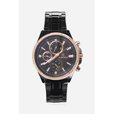 NAVIFORCE 9089 Male Quartz WatchMens Watches<br>NAVIFORCE 9089 Male Quartz Watch<br><br>Band material: Stainless Steel<br>Band size: 24.00 x 2.00 cm / 9.45 x 0.78 inches<br>Brand: Naviforce<br>Case material: Alloy<br>Clasp type: Folding clasp with safety<br>Dial size: 4.40 x 4.40 x 1.20 cm / 1.73 x 1.73 x 0.47 inches<br>Display type: Analog<br>Movement type: Quartz watch<br>Package Contents: 1 x NAVIFORCE 9089 Business Men Quartz Watch<br>Package size (L x W x H): 26.00 x 5.50 x 2.20 cm / 10.24 x 2.17 x 0.87 inches<br>Package weight: 0.1710 kg<br>Product size (L x W x H): 24.00 x 4.40 x 1.20 cm / 9.45 x 1.73 x 0.47 inches<br>Product weight: 0.1400 kg<br>Shape of the dial: Round<br>Watch color: Champagne Gold + Black, Champagne Gold + Silver, Black, Silver and Black, Silver White<br>Watch mirror: Mineral glass<br>Watch style: Business<br>Watches categories: Men<br>Water resistance : 30 meters